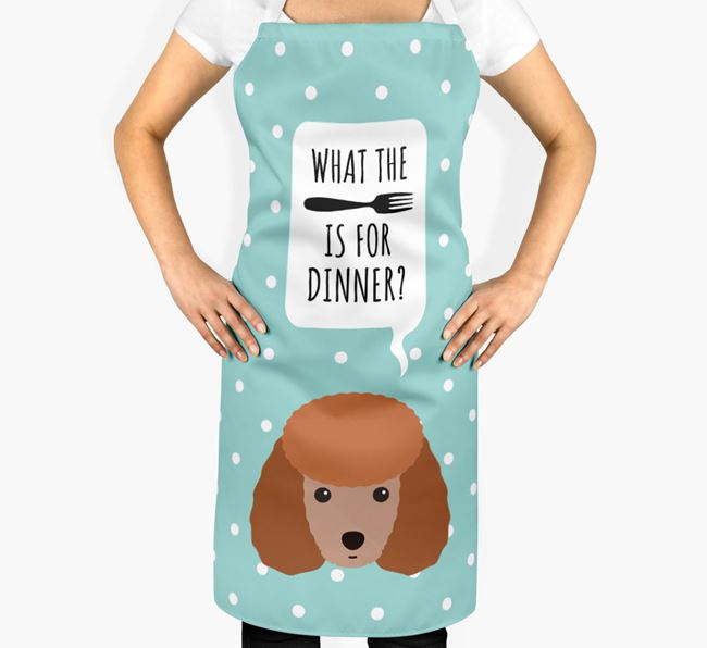'What's for dinner?' Adult Apron with Toy Poodle Icon