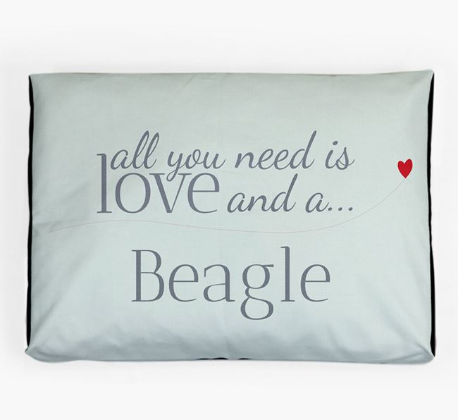'All You Need is Love' Dog Bed for your Beagle