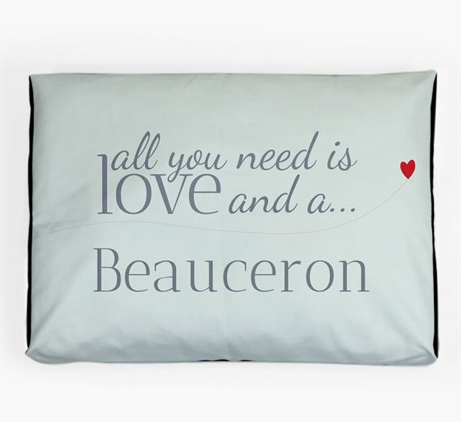 'All You Need is Love' Dog Bed for your Beauceron