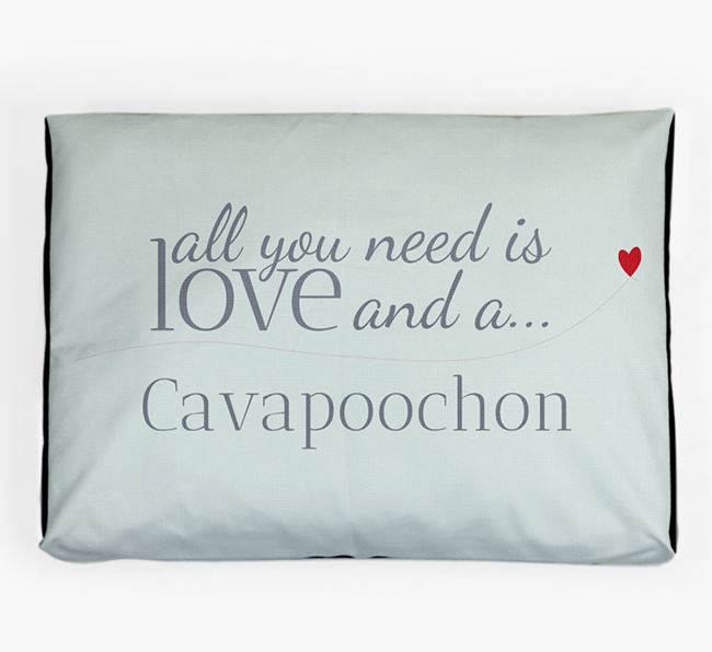 'All You Need is Love' Dog Bed for your Cavapoochon
