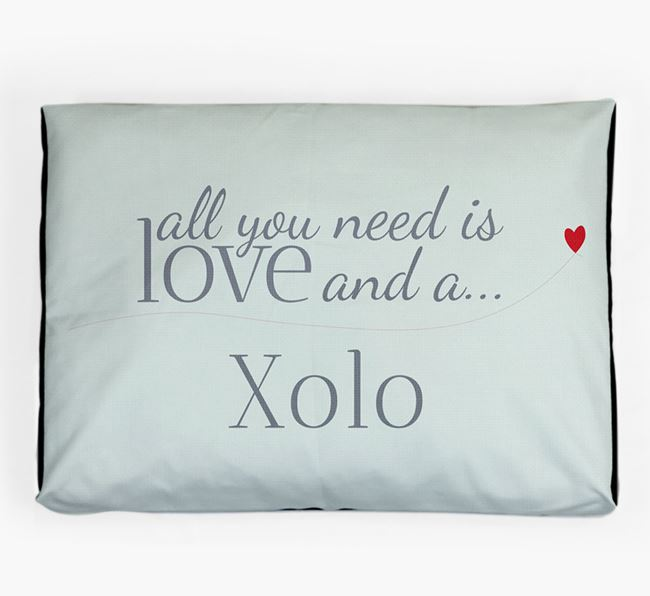 'All You Need is Love' Dog Bed for your Mexican Hairless