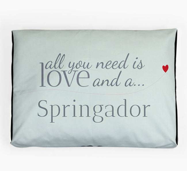 'All You Need is Love' Dog Bed for your Springador