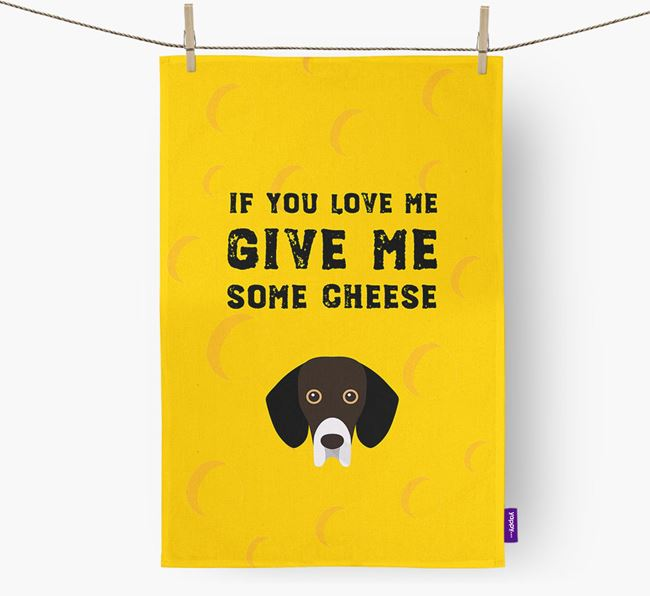 'Give Me Some Cheese' Dish Towel with Bassador Icon