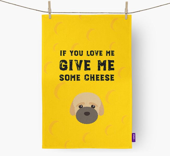 'Give Me Some Cheese' Dish Towel with Bich-poo Icon