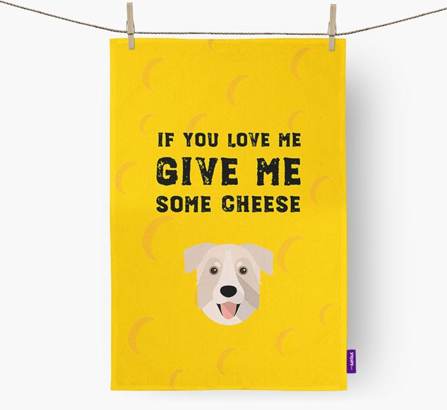'Give Me Some Cheese' Dish Towel with Chinook Icon