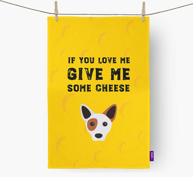 'Give Me Some Cheese' Dish Towel with Cojack Icon