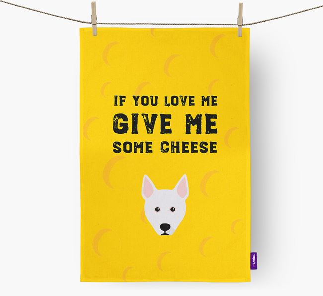 'Give Me Some Cheese' Dish Towel with Pitsky Icon