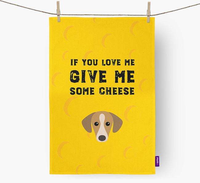 'Give Me Some Cheese' Dish Towel with Sloughi Icon