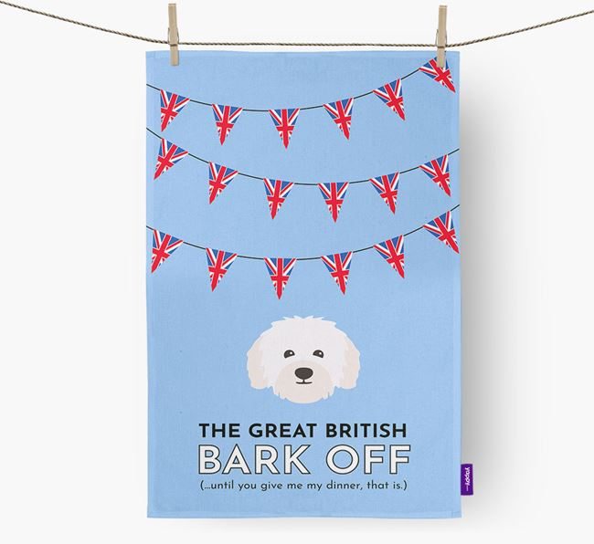 The Great British 'Bark' Off Tea Towel with Bolognese Icon