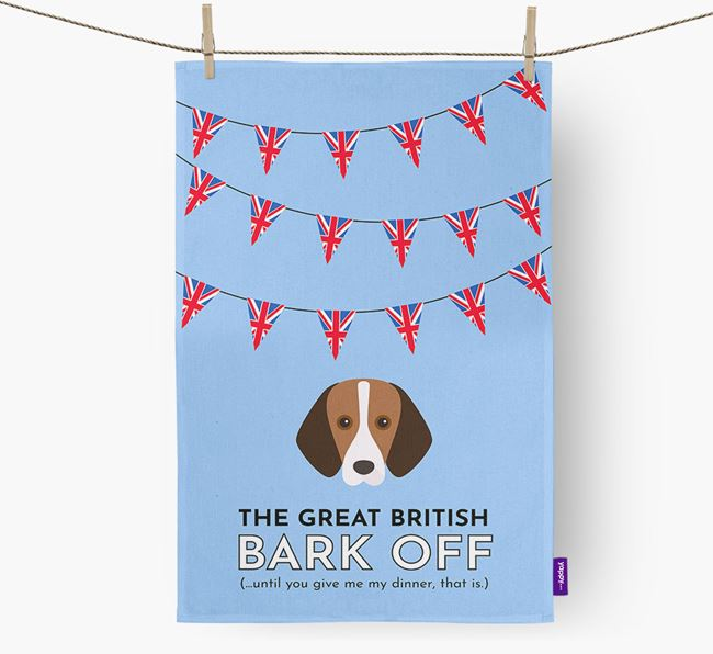 The Great British 'Bark' Off Tea Towel with Foxhound Icon