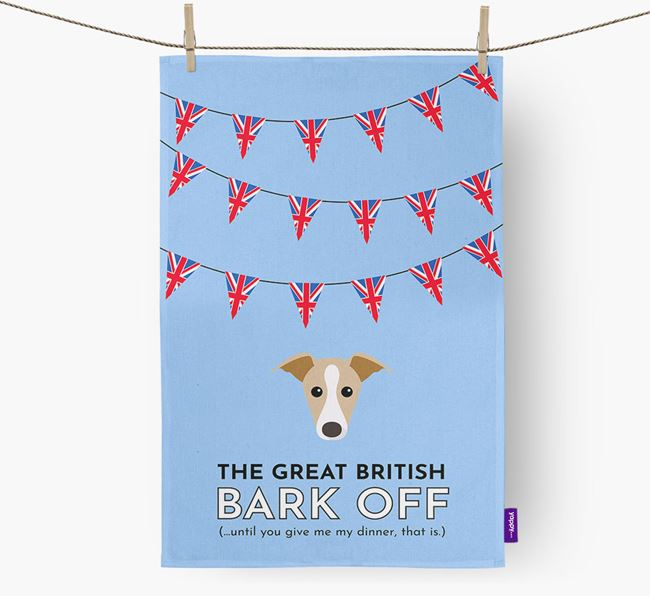 The Great British 'Bark' Off Tea Towel with Dog Icon