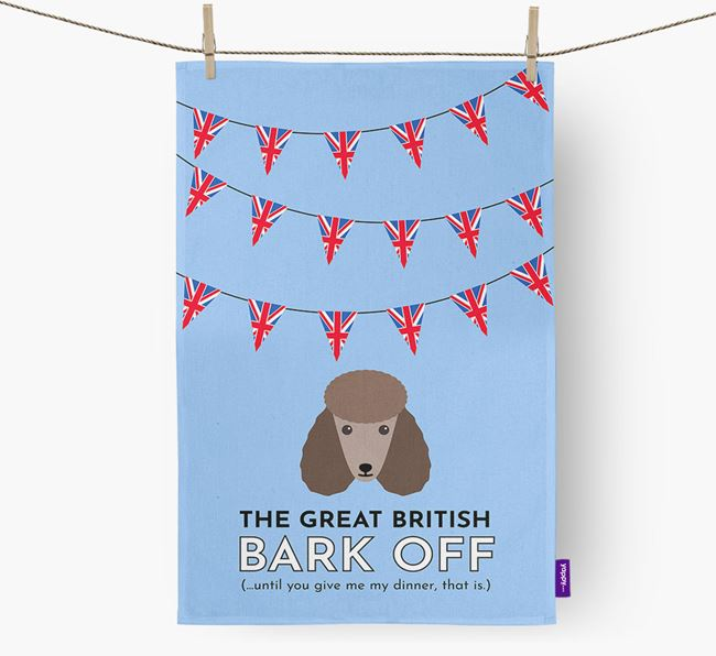 The Great British 'Bark' Off Tea Towel with Poodle Icon