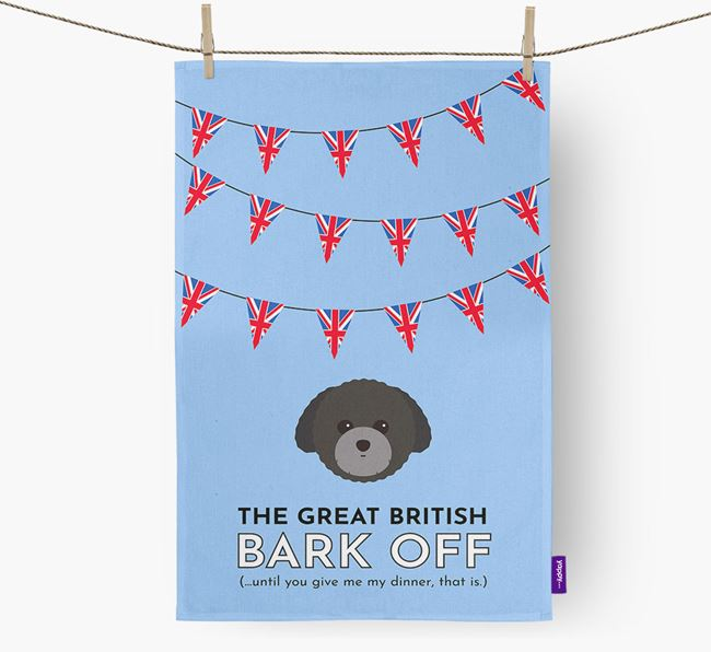 The Great British 'Bark' Off Tea Towel with Toy Poodle Icon