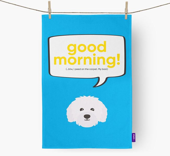 Tea Towel 'Good Morning!' with Bolognese Icon