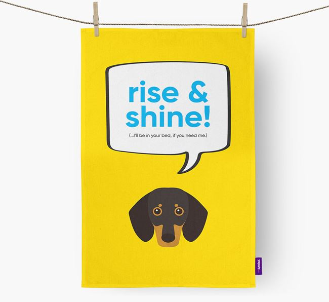 Tea Towel 'Good Morning!' with Dog Icon