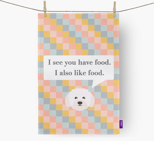 Tea Towel 'I see you have food' with Bolognese Icon