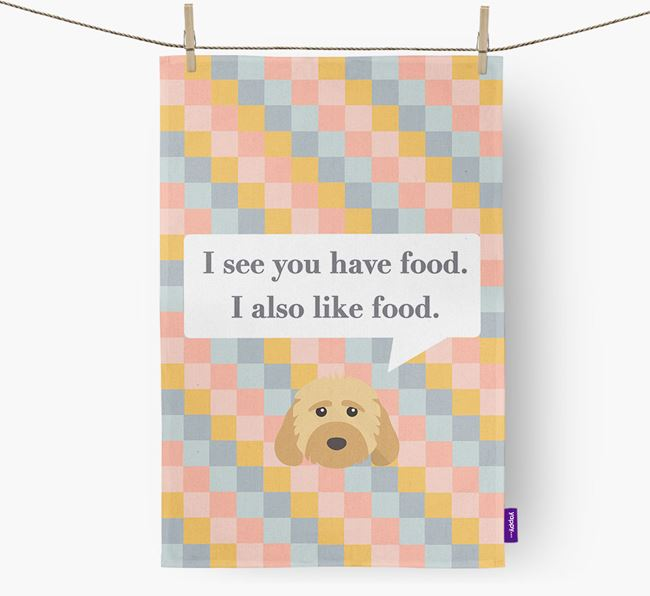 Dish Towel 'I see you have food' with Dog Icon